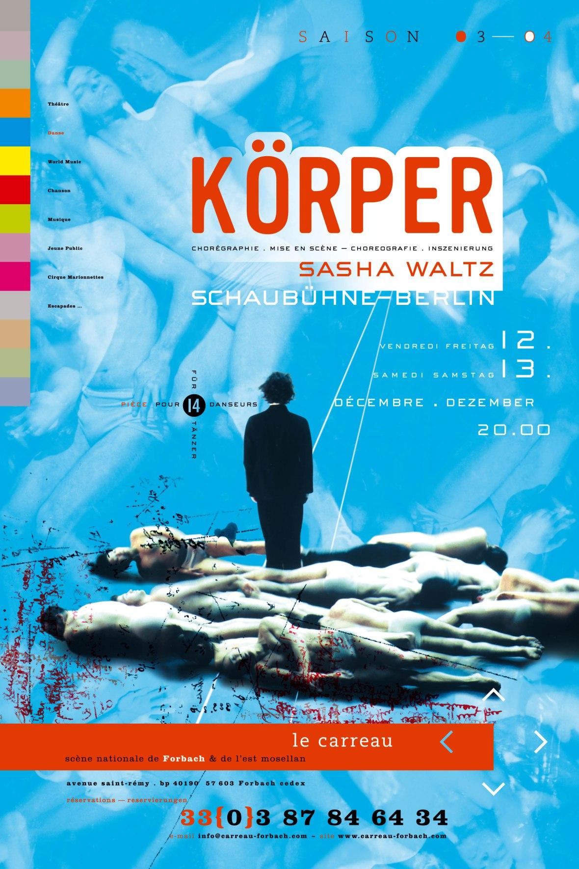 CARREAU 2003 AFFICHE KORPER